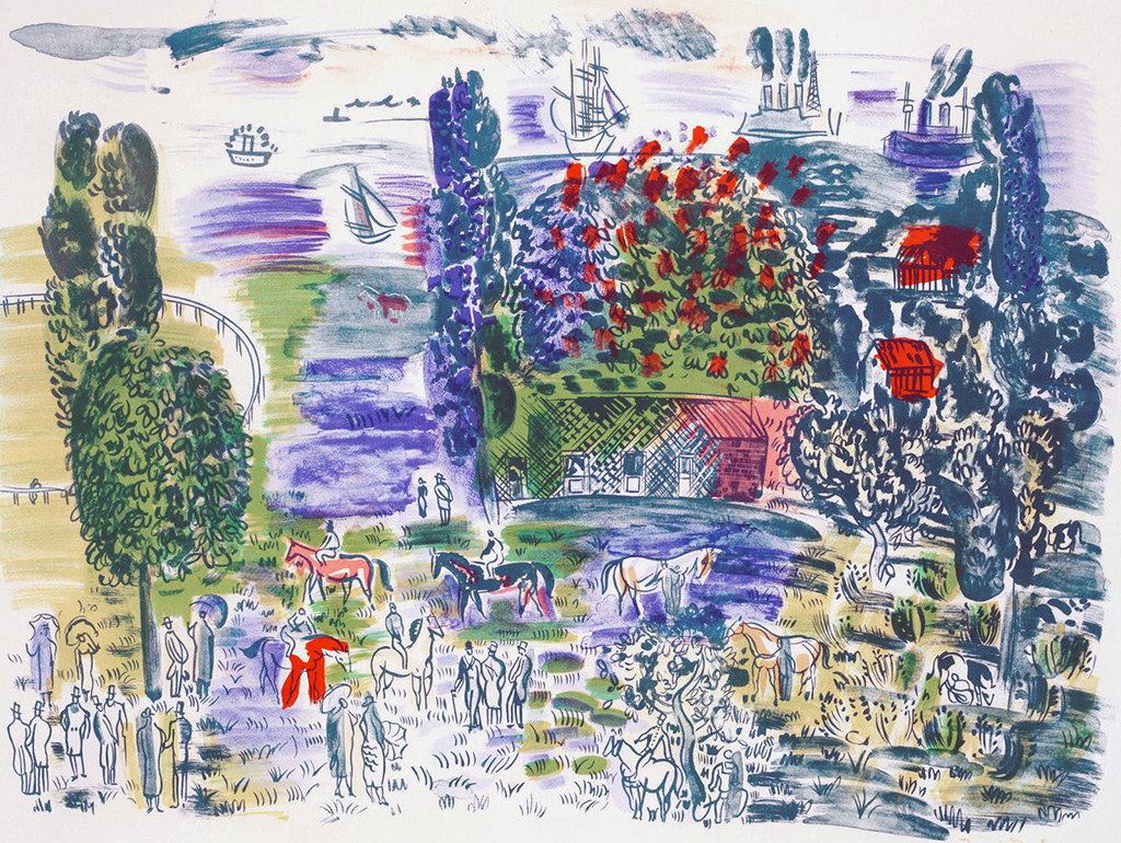 1949- Raoul Dufy - Before the Races, Deauville