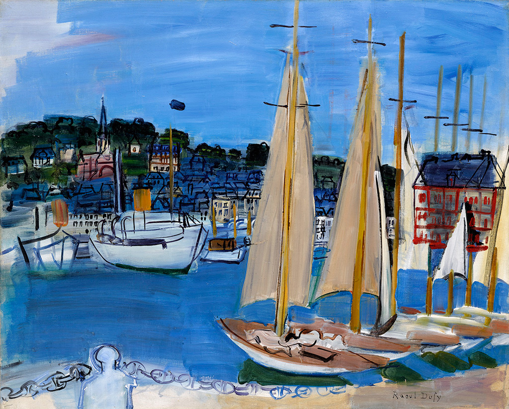 ????- Raoul Dufy - The Sailboats at Deauville