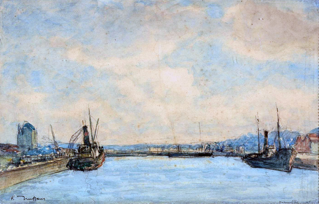 1925 - Truffault - The Port of Deauville