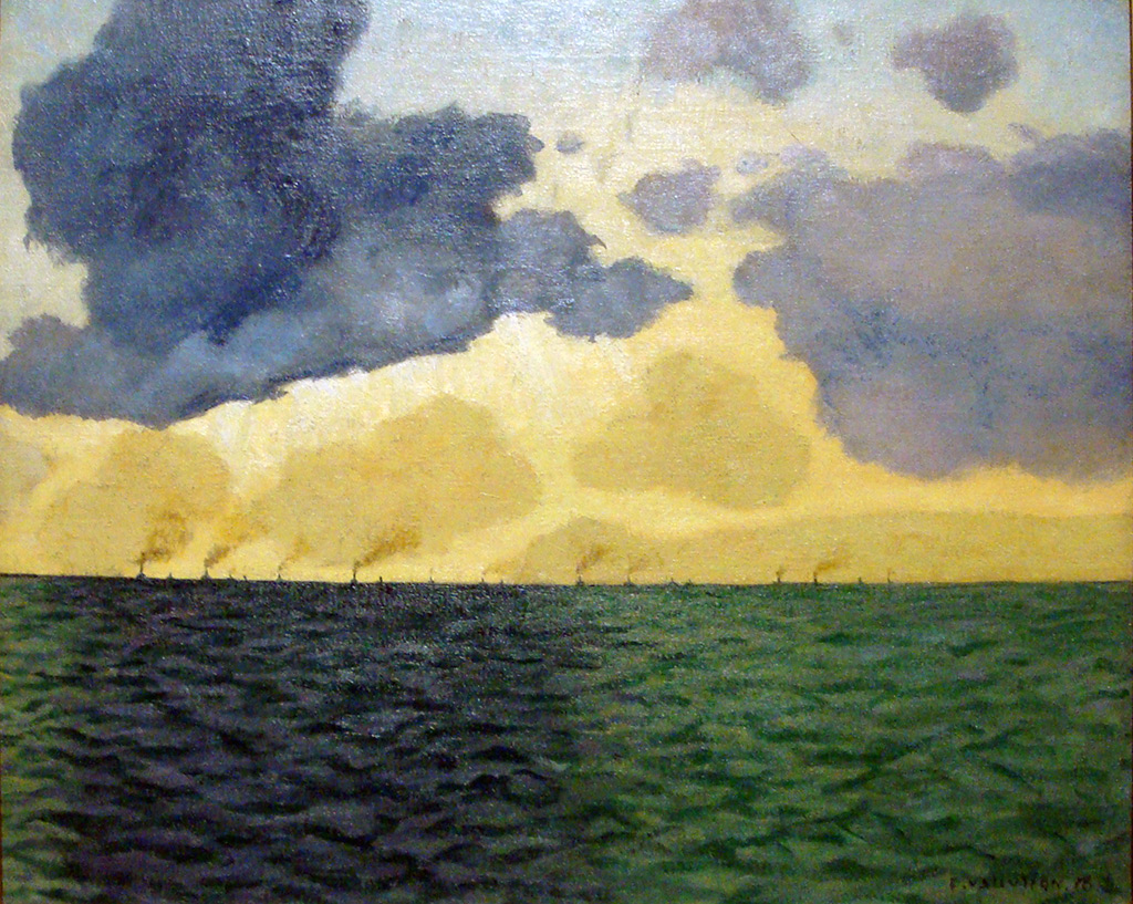 1918 - Felix Vallotton - In the harbor of Le Havre