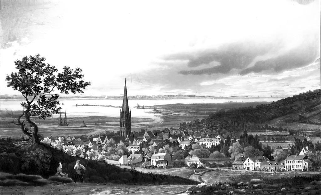 ???? - Ambroise Louis Garneray - General view of Harfleur from the Cote du Calvaire