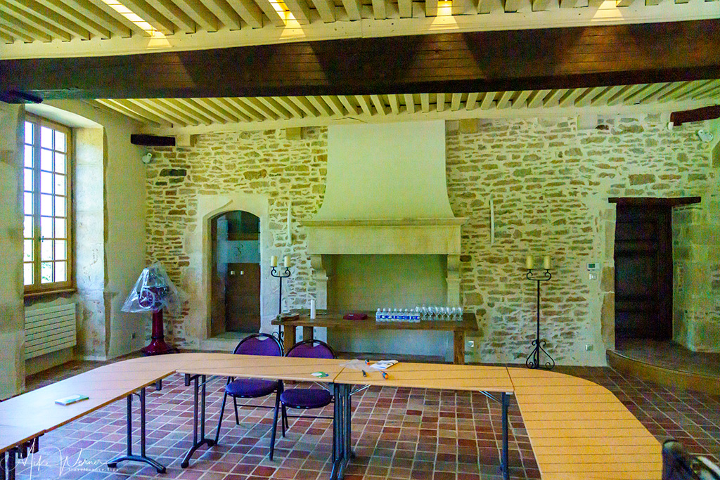 Conference room of the Balleure castle