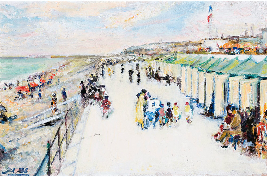 1937 - Jacques-Emile Blanche - The Promenade on the Beach of Dieppe