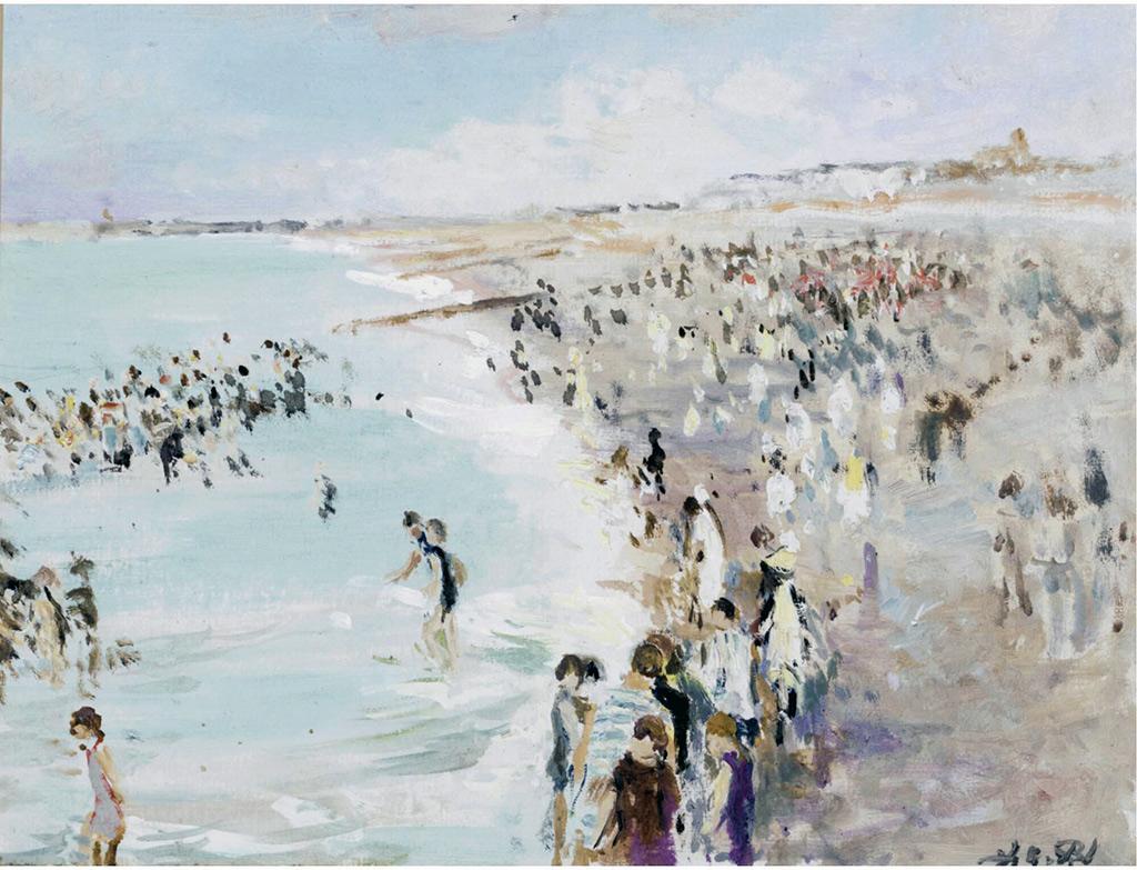 ???? - Jacques-Emile Blanche - August Morning Bath, Dieppe