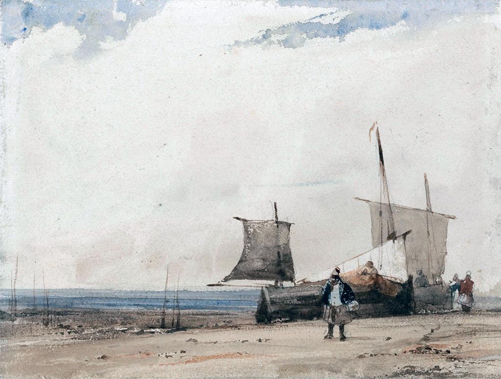 1825 - Bonington - Beach Scene, Cabourg