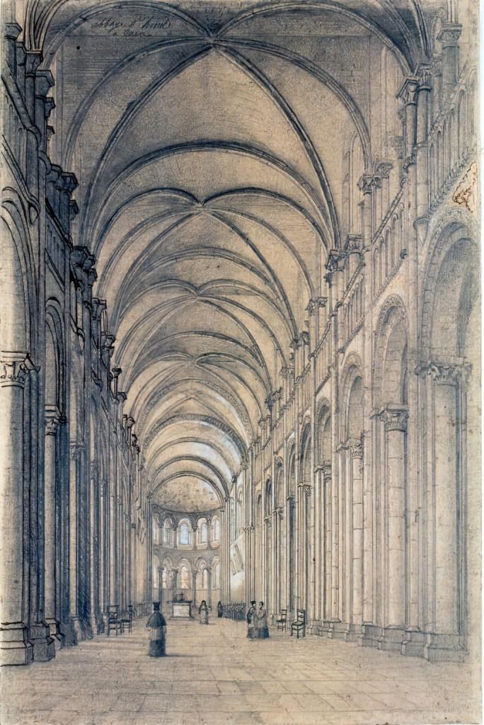 ???? - Thorigny - Holy-Trinity Abbey in Caen. Ladies' Abbey. Interior view of the Trinity Church