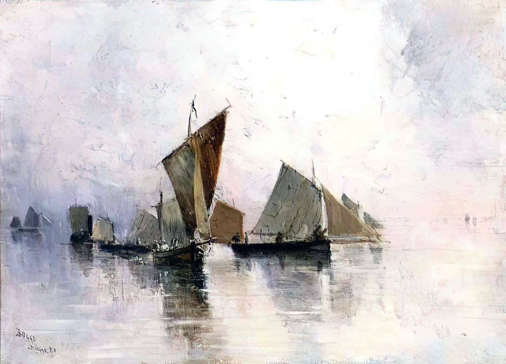 1881 - Frank Myers Boggs - Morning fog over Dieppe