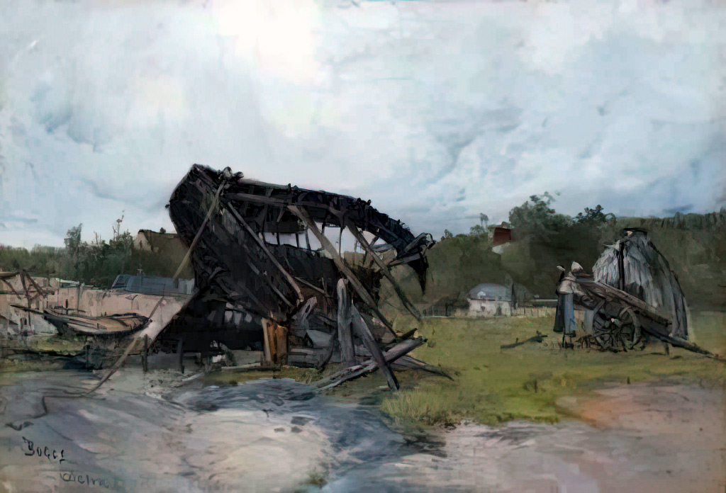 18814- Frank Myers Boggs - Dieppe, the Wreck