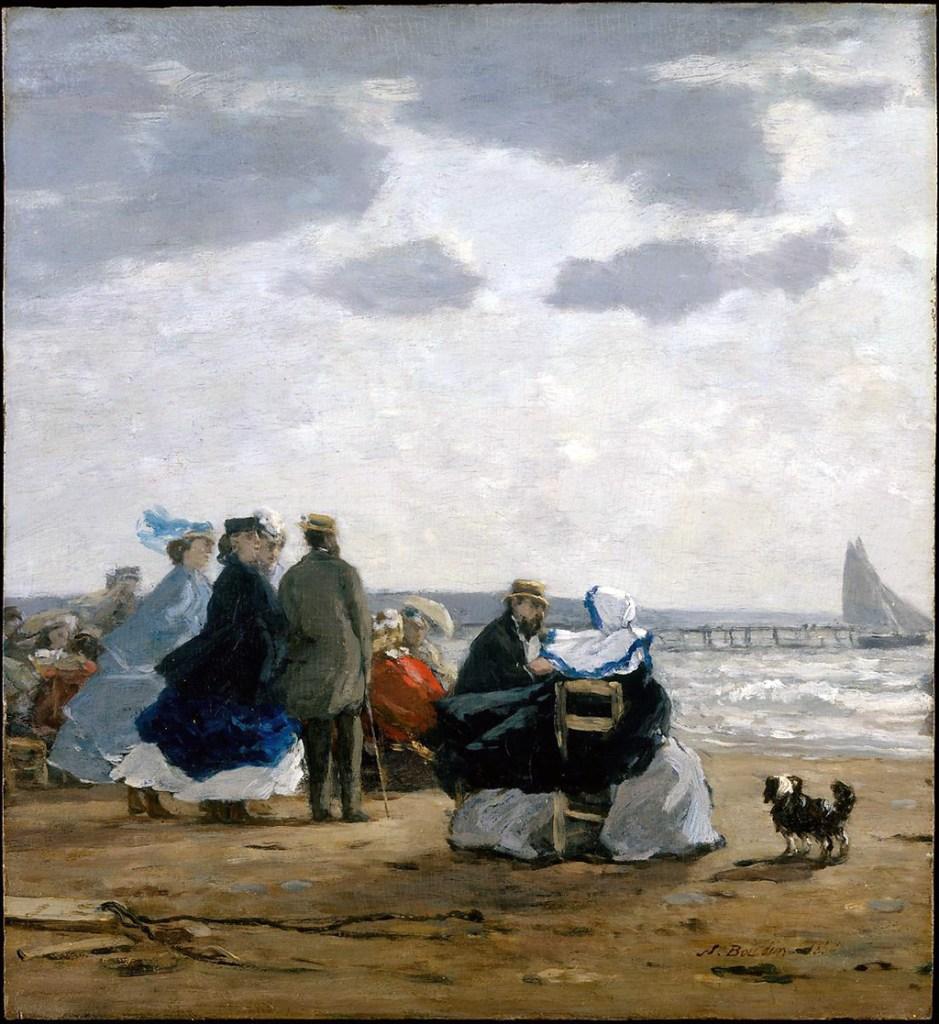 1864 - Eugene Louis Boudin - On the Beach, Dieppe