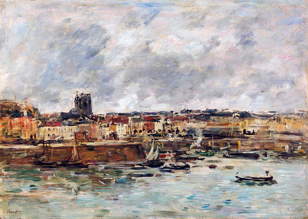 1890 - Eugene Louis Boudin - Dieppe, the outer harbor (study)