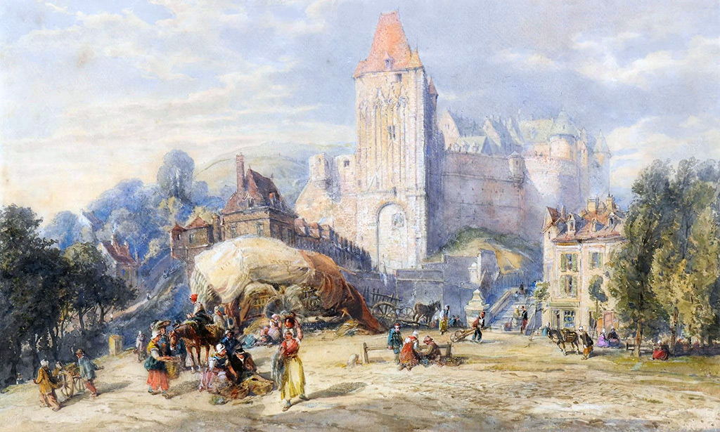 ???? - John Burgess Jr. - A View of the Chateau at Dieppe