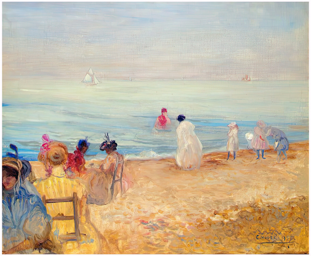 1895 - Charles Conder - The beach of Pourville