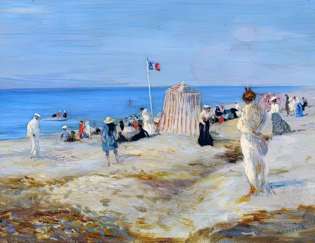 ???? - Charles Conder - French Beach Scene, Dieppe
