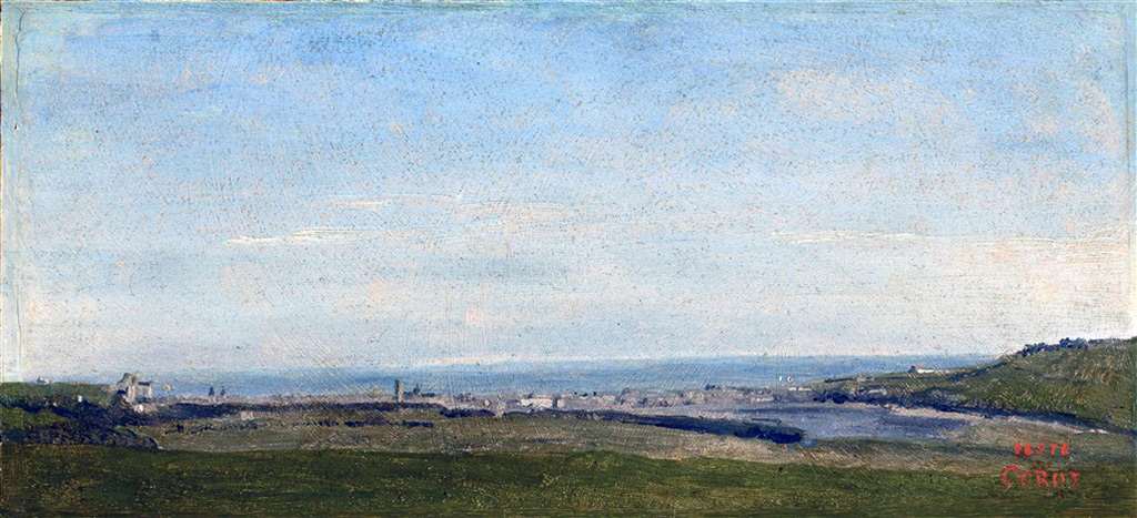 1823 - Jean-Baptiste Camille Corot - Dieppe, panoramic view taken in the surroundings