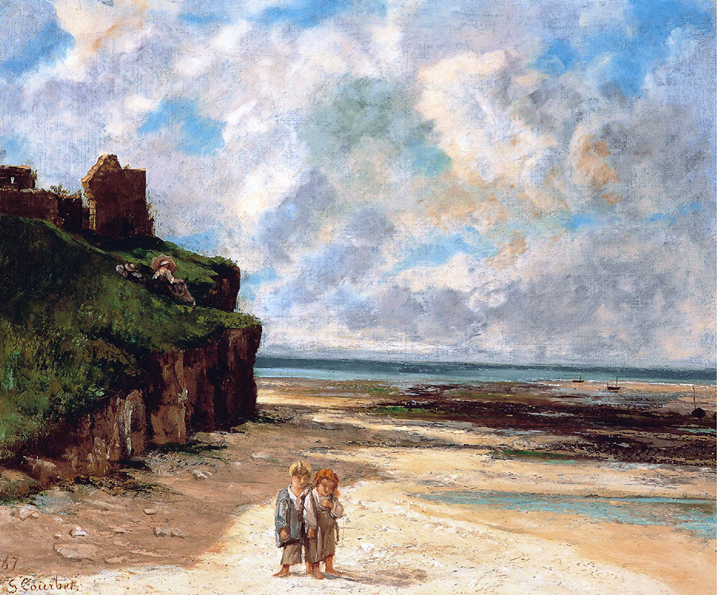 1867 - Gustave Courbet -  The Beach of Saint Aubin