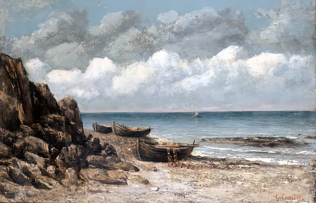 ???? - Gustave Courbet - Fishing Boats at St.Aubin