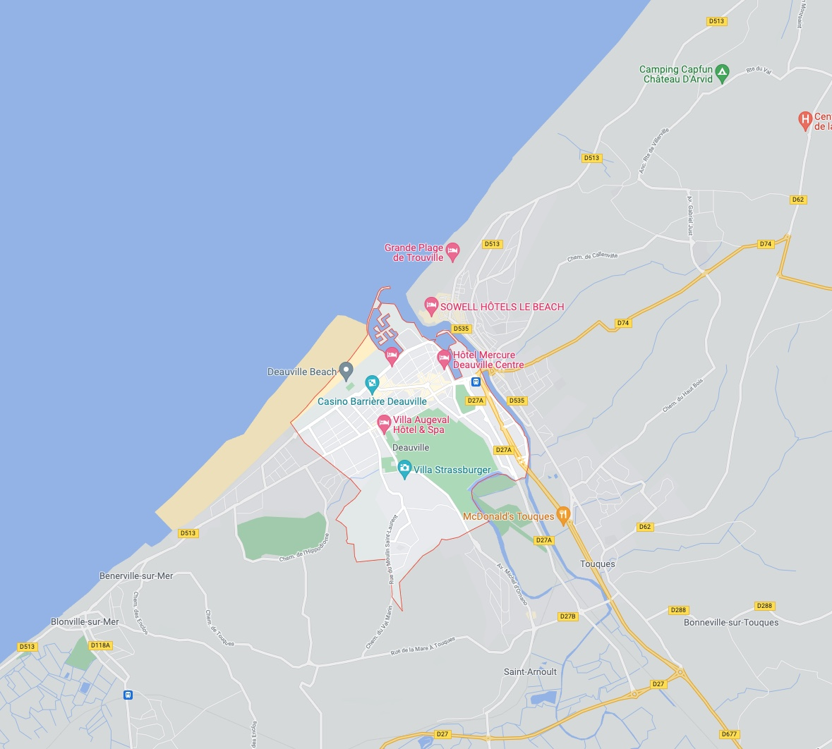 Deauville  – The Artists – Overview and Map