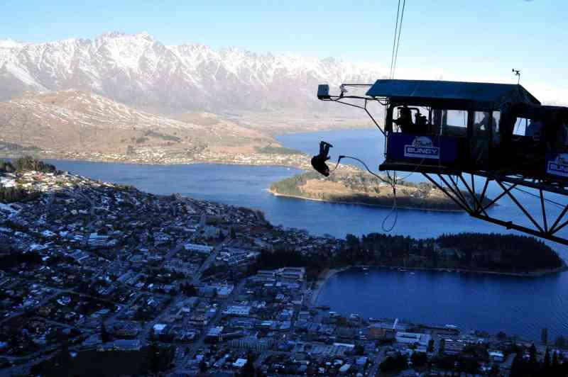 Bungy Jumping Over Queenstown