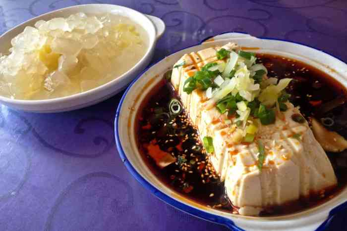 Tofu and Aloe Vera, Two Traditional Chinese Foods