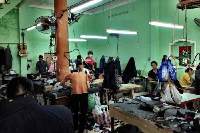 The suit factory where everything gets made