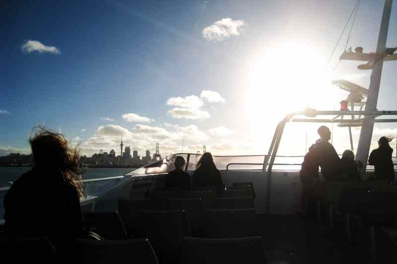On the ferry to Auckland, NZ