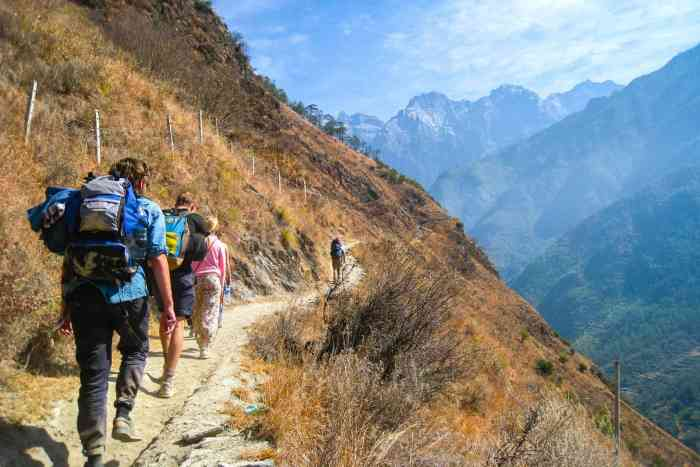 Hiking in the Mountains of Southwestern China