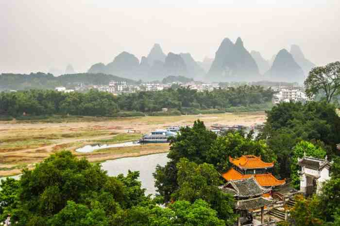 Landscapes in Yangshuo, China