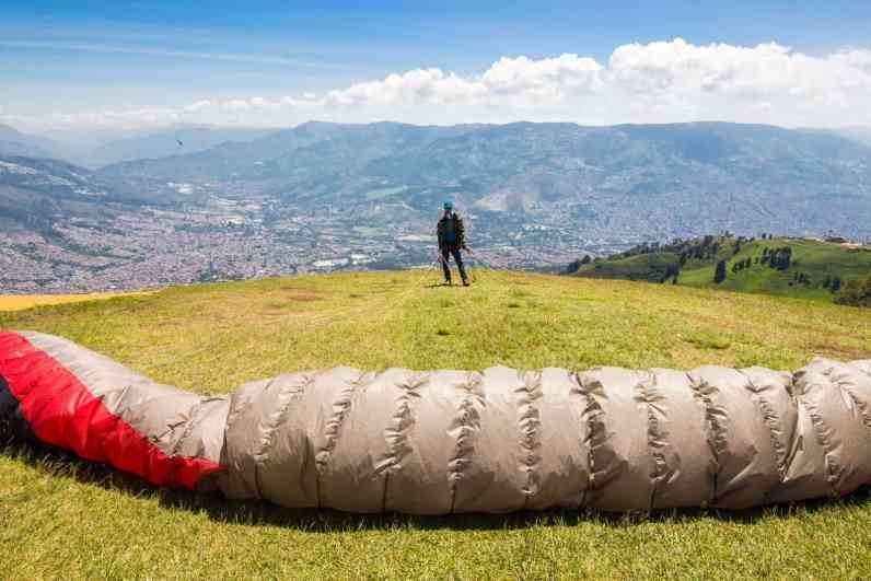 Paragliding in Medellin, Colombia