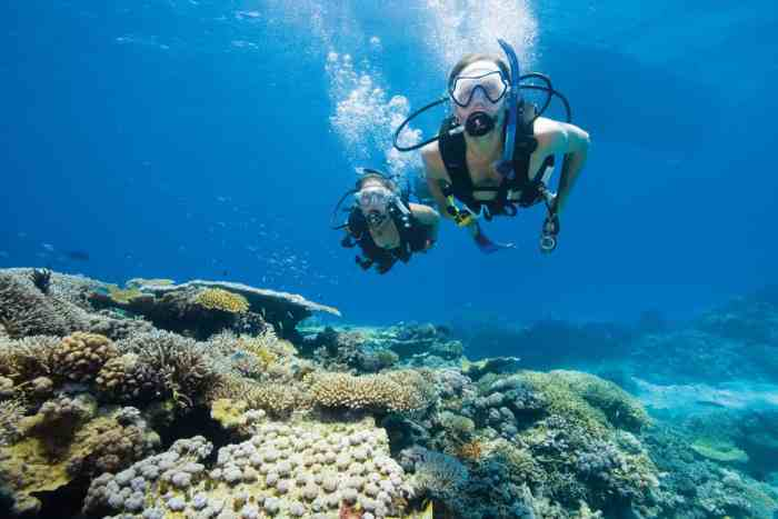 Scuba diving on the Great Barrier Reef