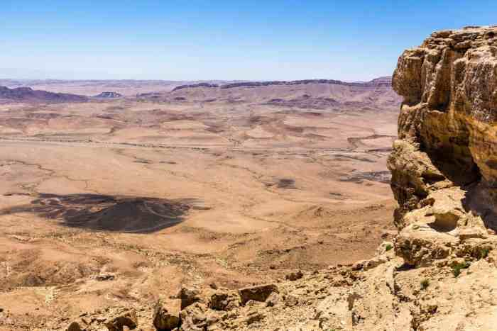 Inside the Ramon Crater