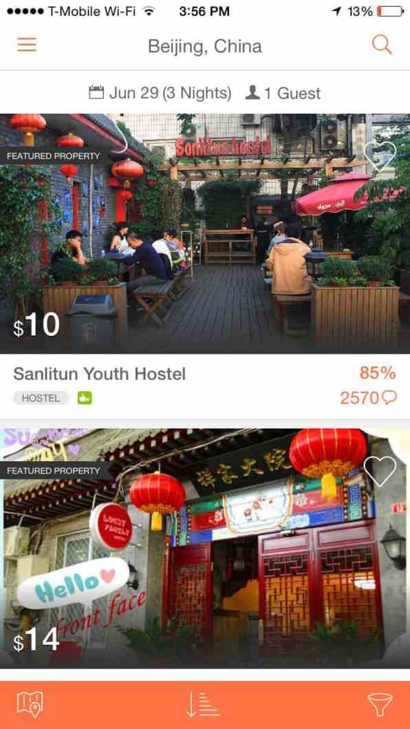 Hostelworld is the best app for finding hostels around the world