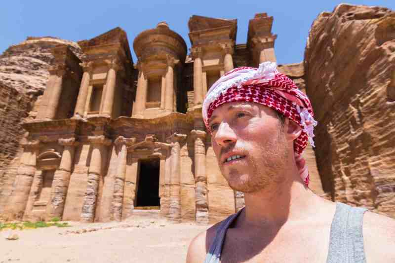 Breaking the Rules in Petra, Jordan: Free Climbing to the Top of the Monastery