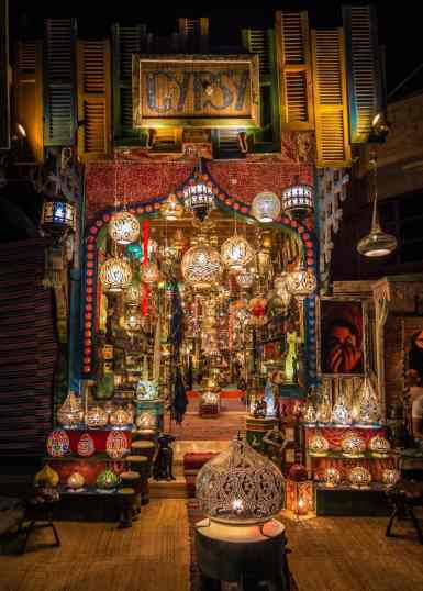 Lantern Shop in Dahab, Egypt.