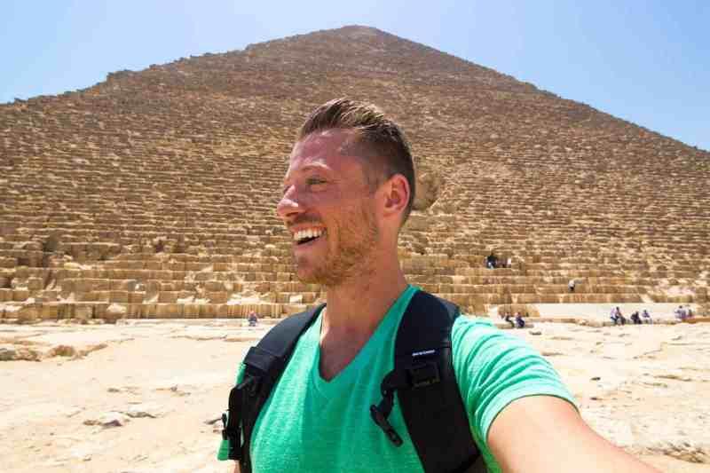 Selfie at the ancient Pyramids of Giza!