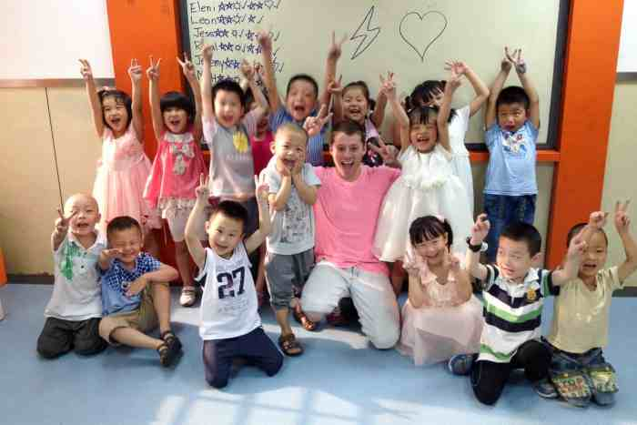 Teaching English in Xi'an, China.