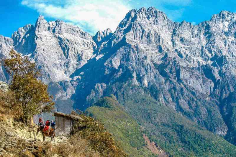 Hiking Tiger Leaping Gorge in the Yunnan Province of China.
