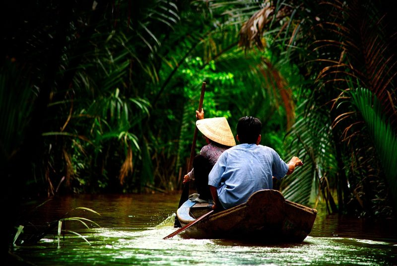 Riding on the Mekong Delta