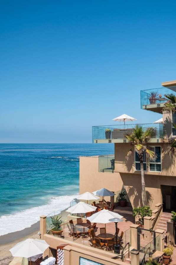 The view from the balcony at Surf and Sand Resort in Laguna Beach