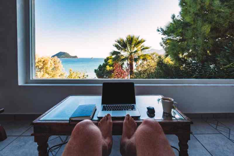 You can work online from anywhere in the world