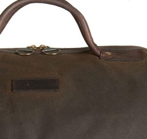 The Barbour Wax Cotton Holdall makes a great carry-on