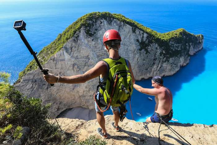 View from the top of the Zakynthos Cliff Jump
