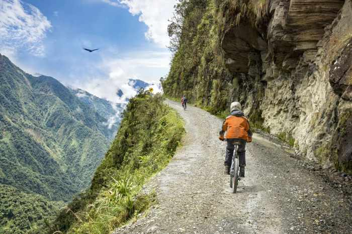 Riding Bolivia's Death Road in June.