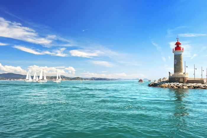 St. Tropez's coastline