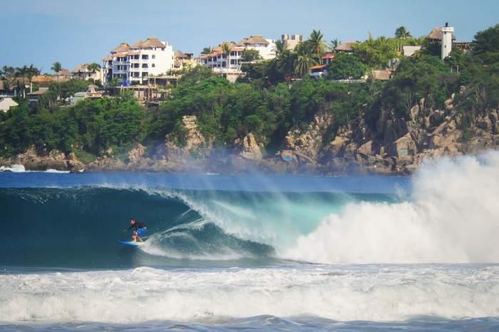 Surfer in Puerto Escondido, Me
