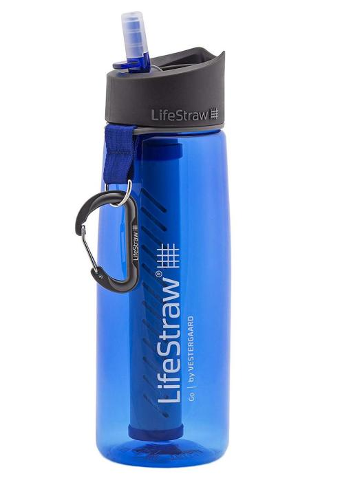 The Lifestraw Go Filtered Water Bottle makes one of the best travel gifts