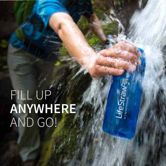 The Lifestraw Go Filtered Water Bottles make one of the best travel gifts