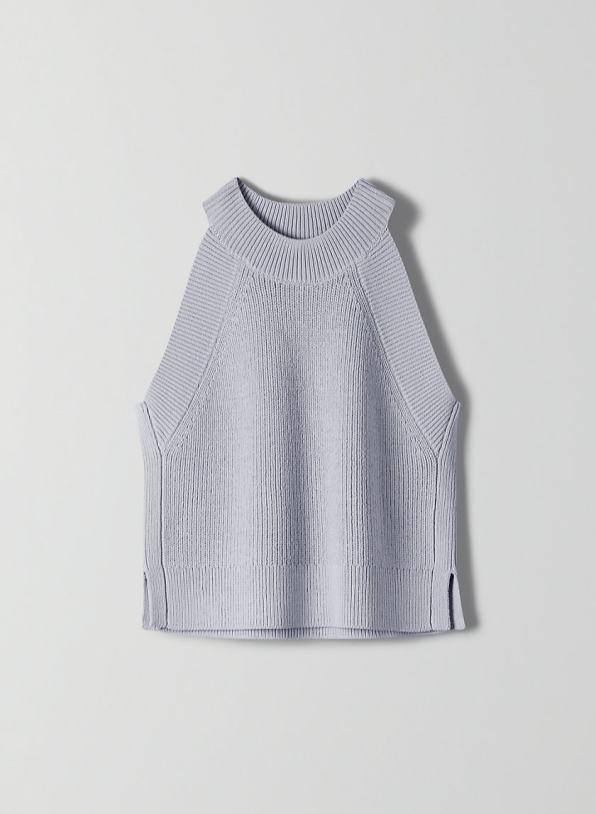 Grey Aritzia knit top