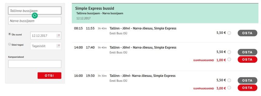 Bus Routes Within ESTONIA