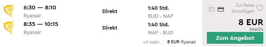 cheap flights budapest naples italy