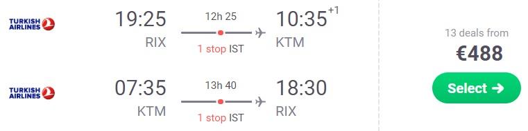 cheap flights riga latvia nepal